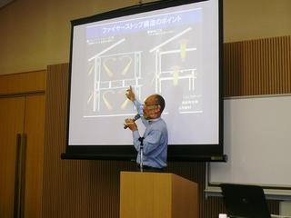 菊池建築設計事務所の菊池所長による講義風景.JPG